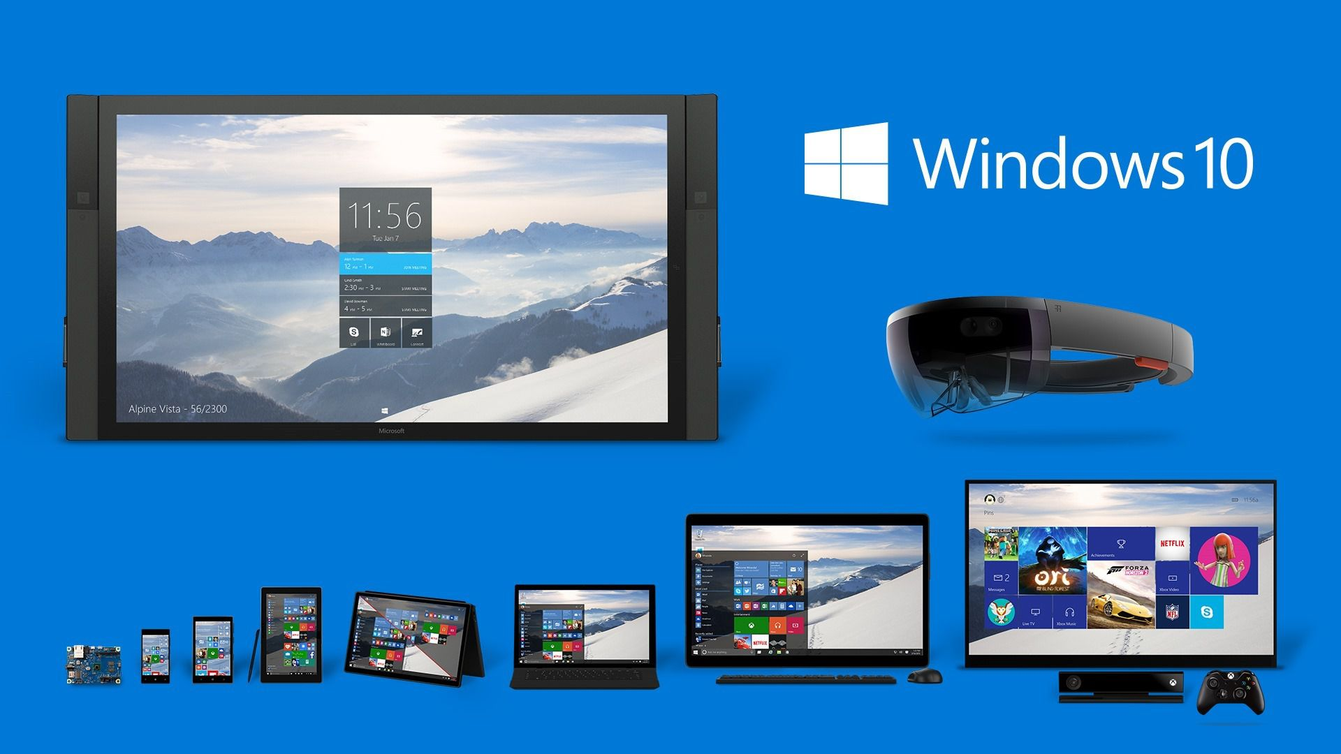 Microsoft официально представила все версии Windows 10