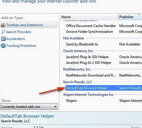 Search here в Internet Explorer