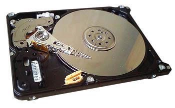 жесткий диск изнутри