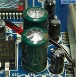 проверка материнки на работоспособность - вздутые конденсаторы