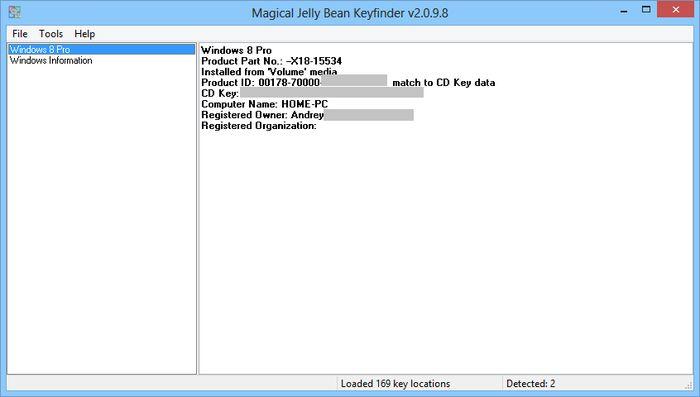 Как восстановить потерянный ключ продукта от Windows 7 или Windows 8