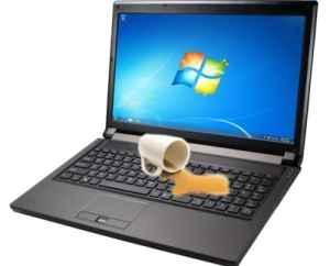 Залили ноутбук