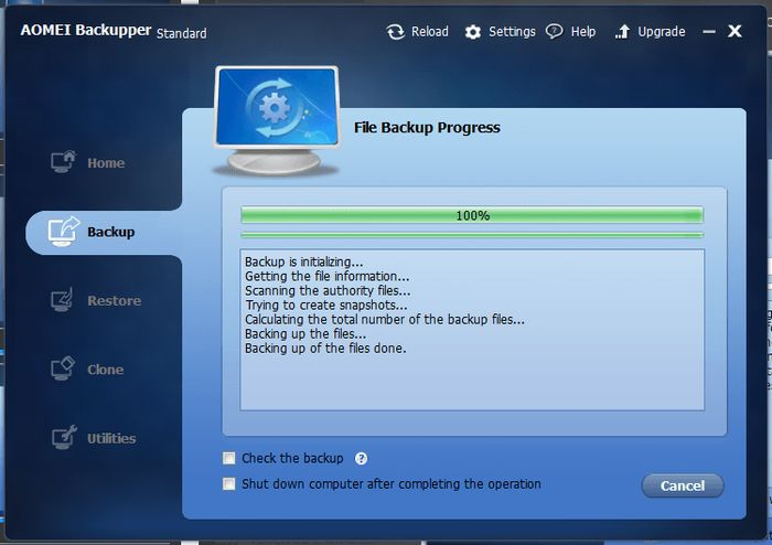 AOMEI Backupper Standard: бесплатный инструмент для резервного копирования и восстановления данных
