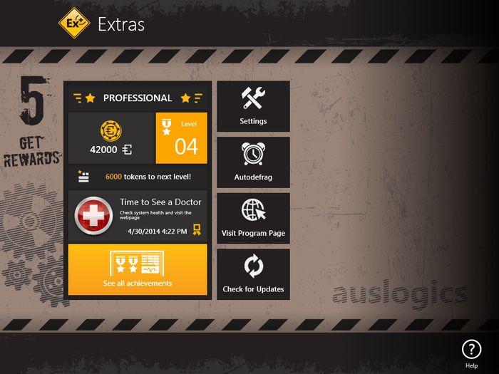 Auslogics Disk Defrag Touch: бесплатный дефрагментатор для сенсорных устройств с Windows 8 и Windows 8.1