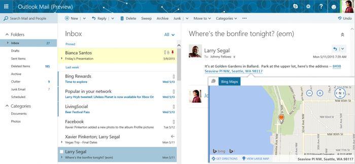 Microsoft обновляет Outlook.com: Clutter, новые темы и многое другое