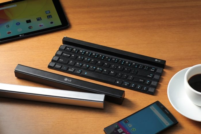 Обновлённая версия складывающейся клавиатуры Rolly Keyboard от LG