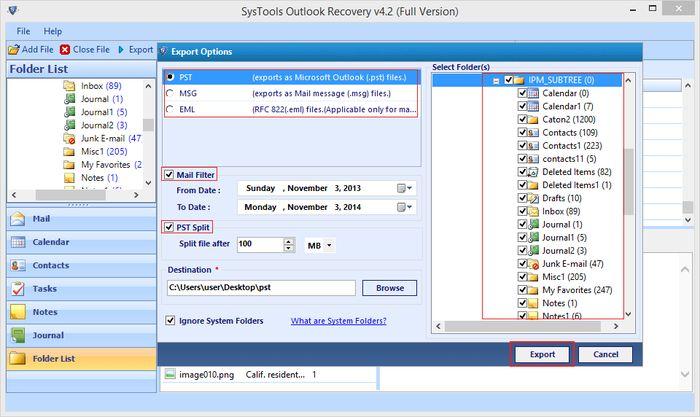 Outlook PST Recovery Tool – инструмент для восстановления файлов данных Outlook