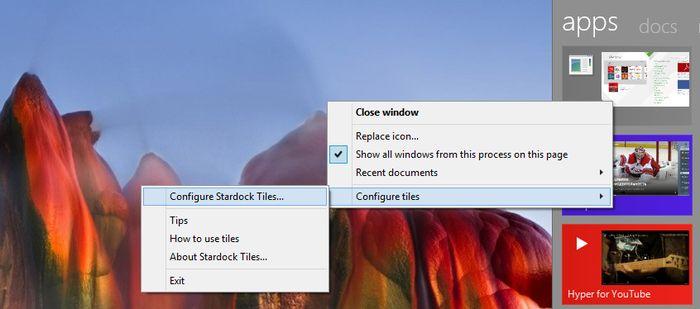 Stardock Tiles – просмотр и управление запущенными программами в Windows