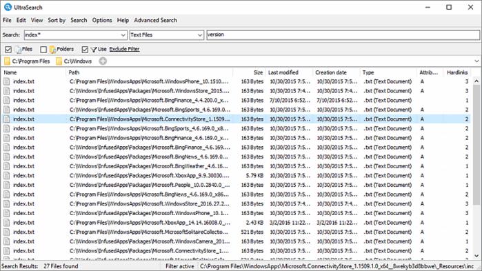 Ultra Search - быстрый поиск файлов на компьютере
