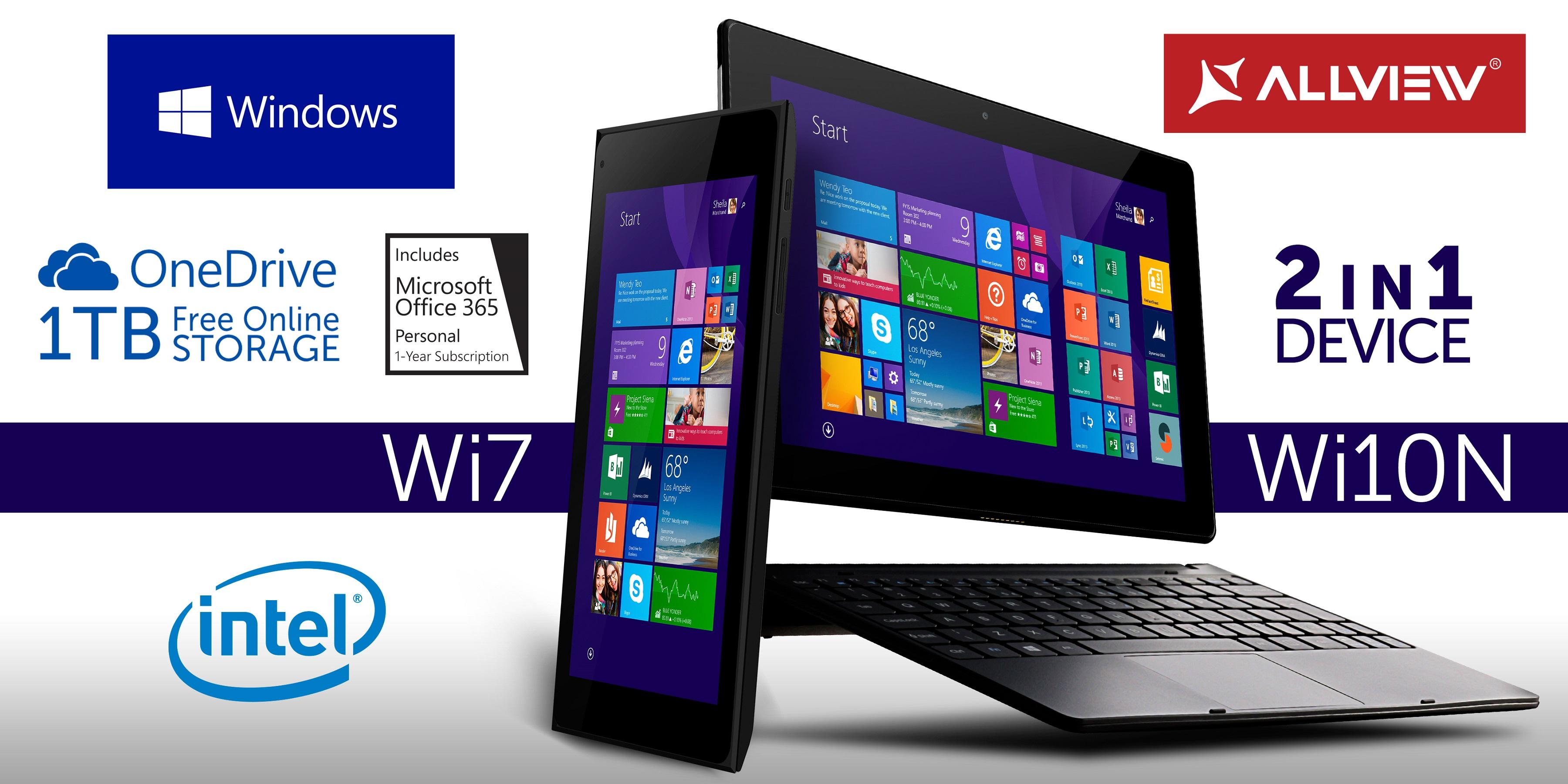 WI7 и WI10N – устройства с Windows 8.1 от Allview
