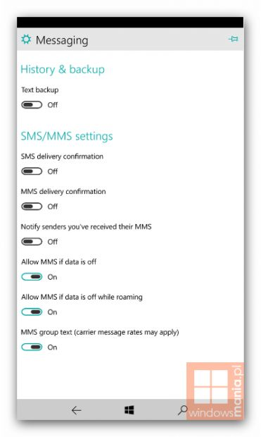 Windows 10 для смартфонов: несколько нововведений на скриншотах новой сборки