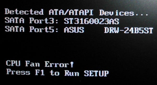 Cpu fan error Press F1, как исправить ошибку Cpu fan error