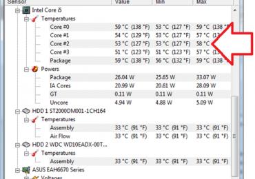 Как посмотреть температуру процессора, как проверить температуру процессора (Windows 7)