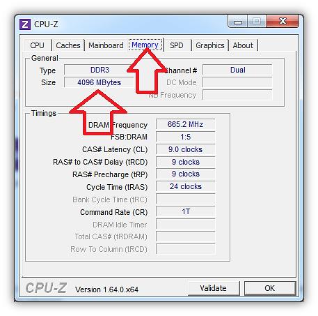 Как узнать какая оперативная память стоит на компьютере