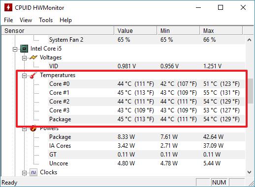 Как узнать температуру процессора в Windows 7, как посмотреть температуру