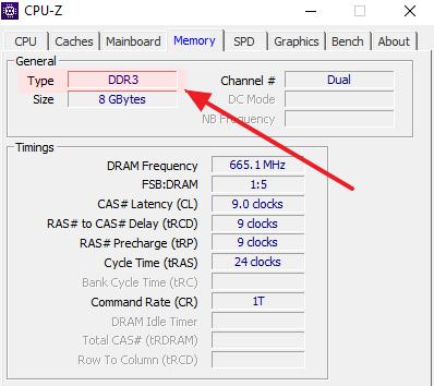 Как узнать тип оперативной памяти компьютера