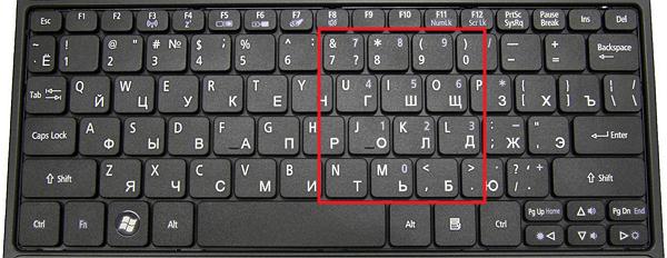 Почему клавиатура печатает цифрами - п1чему к2авиатура