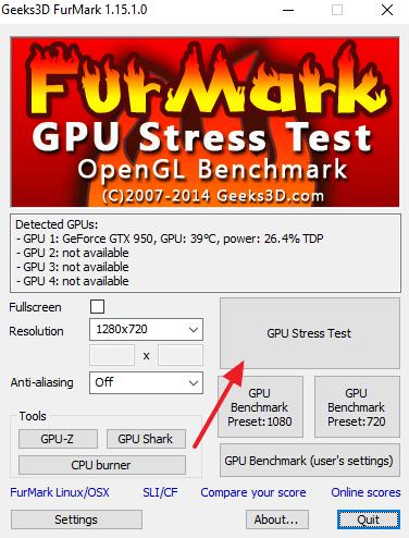 Стресс тест видеокарты, тестирование температуры под нагрузкой