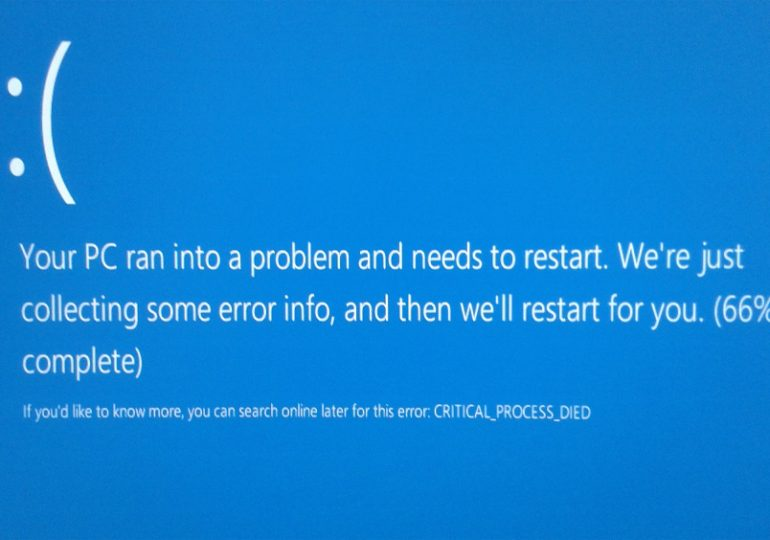 Исправить critical process died ошибку Windows 10 и 8