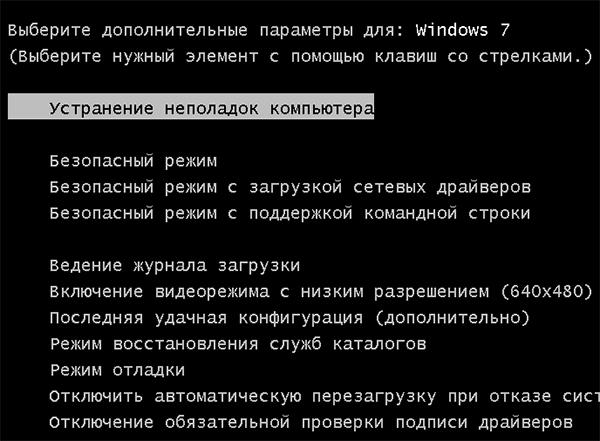 Исправить ошибку если не загружается Windows 10, 7 и 8