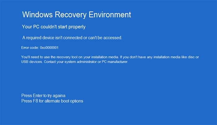 Код проблемной ошибки 0xc0000001 исправляем на ОС Windows 8