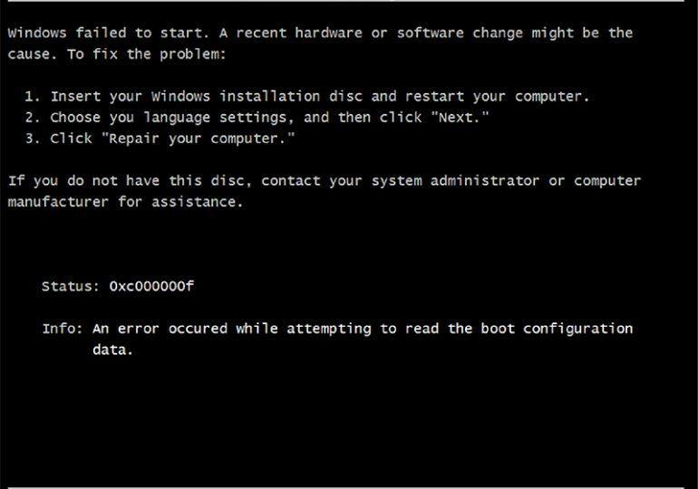Как исправить 0xc000000f ошибку при запуске Windows 7 и 8