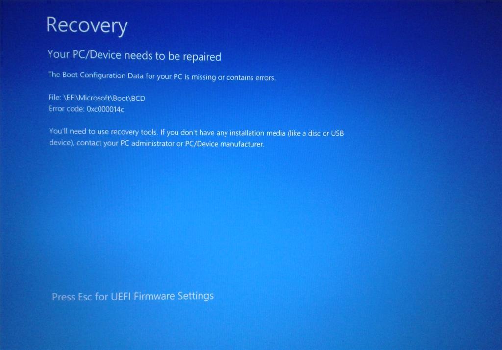 Как исправить 0xc000014c ошибку Windows 7 и 10