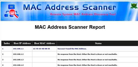 MAC Address Scanner для мониторинга сетевых адресов