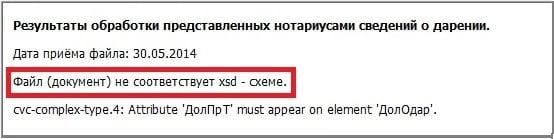 0300300001 Файл не соответствует xsd-схеме