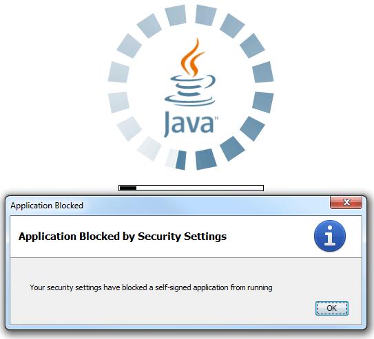 Application Blocked By Java Security как исправить