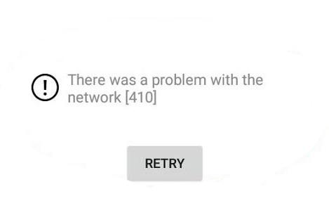 Как исправить 410 Ютуб ошибку сети на андроиде