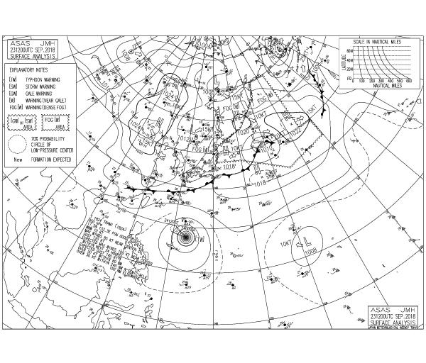 Карта погоды от японского метеорологического агентства JMA и их читать
