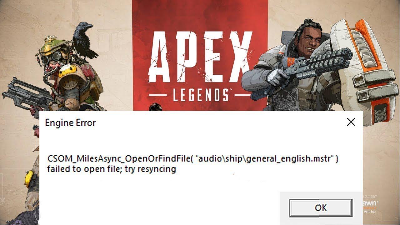 Ошибка Apex Legends engine error как исправить