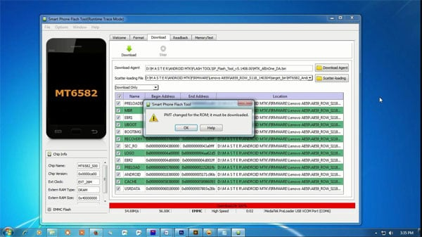 PMT changed for the ROM it must be downloaded что делать