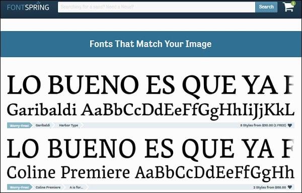 Поиск шрифта по картинке онлайн