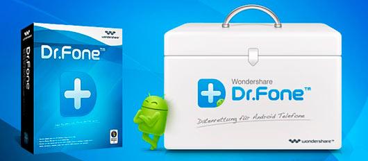 Приложение Dr.Fone восстановит удаленные файлы на Андроид