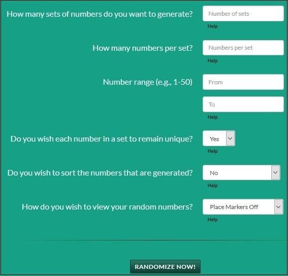 Рандомайзер чисел онлайн