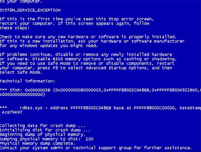 Решение кода 0x0000003b ошибки синего экрана на Windows 7