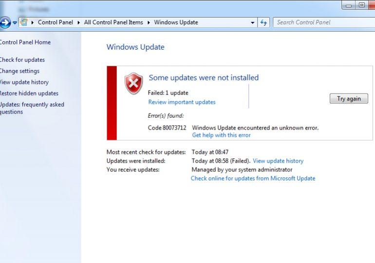 Решение кода ошибки 0x80073712 на Windows 7 и 10