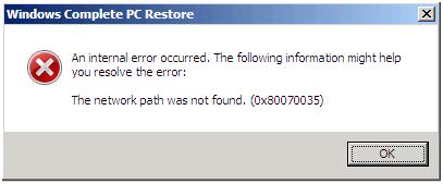 Сетевая ошибка 0x80070035 Windows не находит сетевой доступ