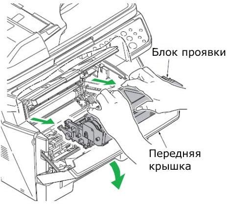 Узел проявки не установлен в Kyocera (M2035dn, M2030dn)