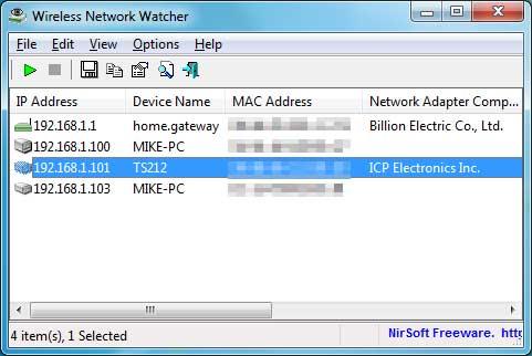 Wireless Network Watcher покажет устройства в сети