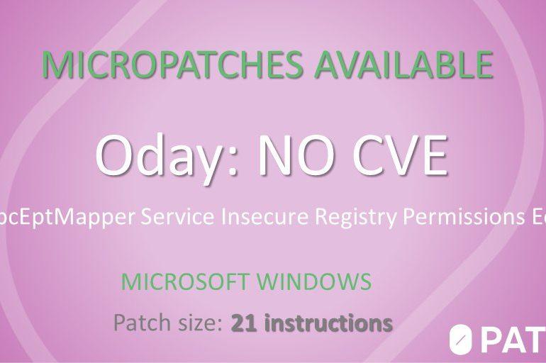 0patch закрыла бесплатным микропатчем уязвимость нулевого дня в Windows 7 и Server 2008 R2
