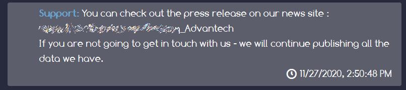 Производитель компьютеров Advantech пострадал от вируса-вымогателя. Хакеры требуют выкуп в биткоинах